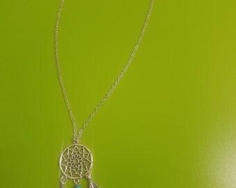 Silver-Native-American-Dream-Catcher-Necklace