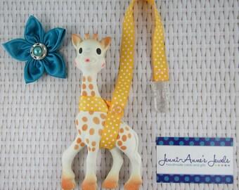 Sophie the Giraffe Leash/Toy Saver