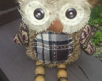 Owl recycled un stuffed girls purse