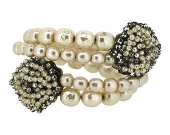 Miriam Haskell 1940s Faux Pearl Vintage Bracelet