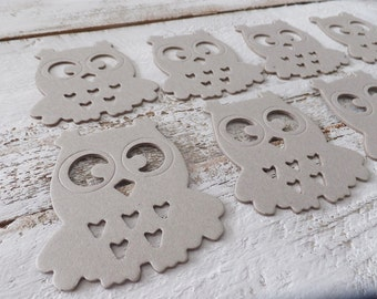 Woodland Owls ~ set of 8 ~ Fall Craft Supply ~ DIY Projects ~ Cutouts ~ Kids Crafts