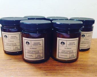 Amber Glass 9 oz Candle >> Soy Wax >> Amber Glass >> Fragrance >>  Cotton & Wood Wick >> Home Decor >> Candles