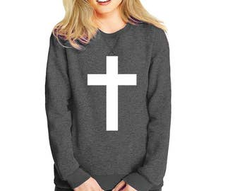 Cross- sweatshirt eco cotton blend Jesus