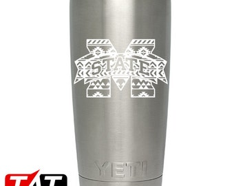 Aztec Mississippi State YETI Decal