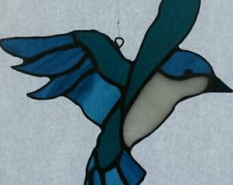 Tiffany window pendant bird (glass)