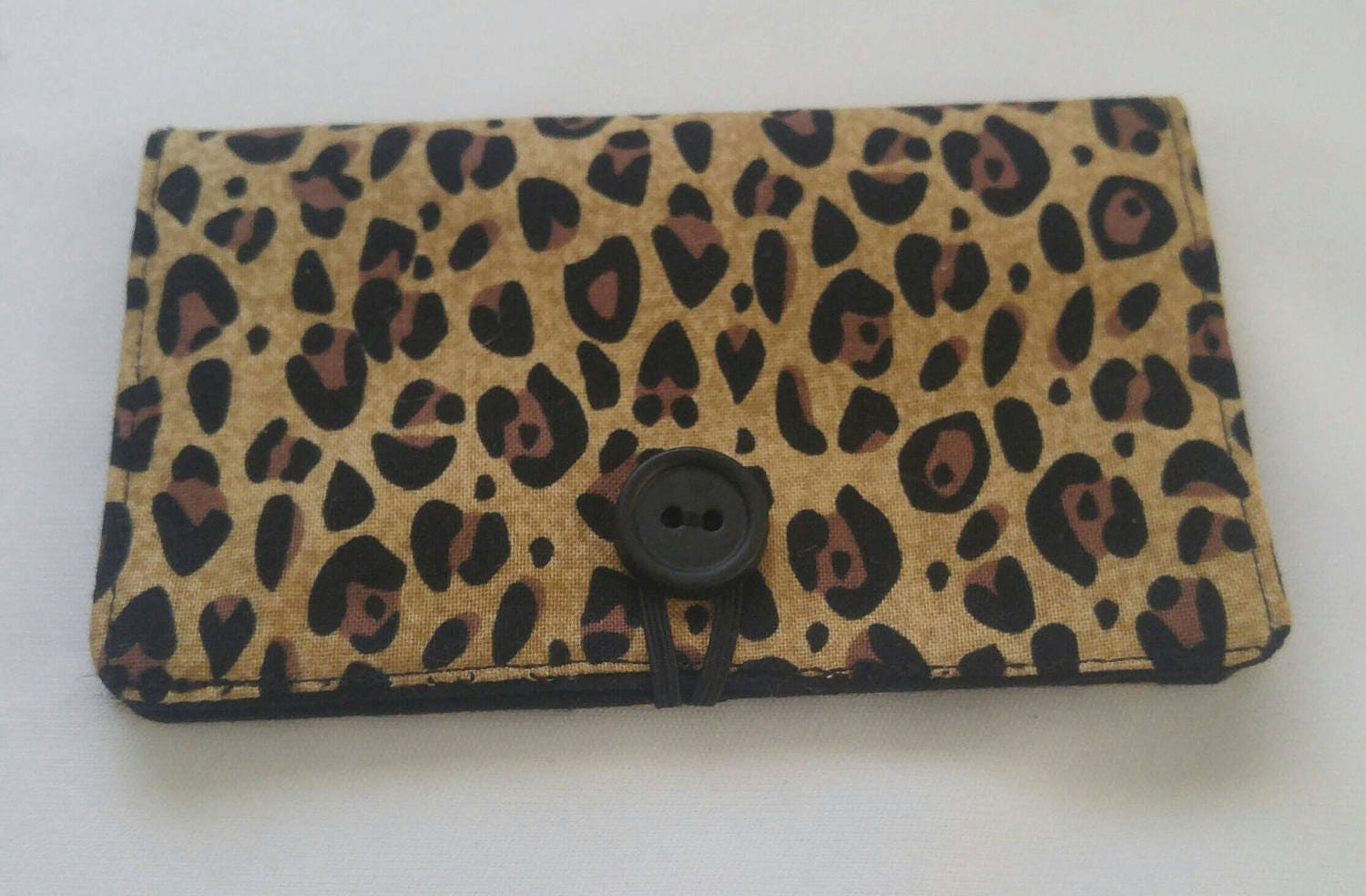 Leopard Print business card holder small travel wallet