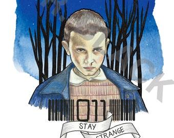 Stranger Things- 'Eleven' Art Print