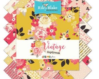 "Riley Blake Vintage Pattern 5"" Stackers - 42 pieces"