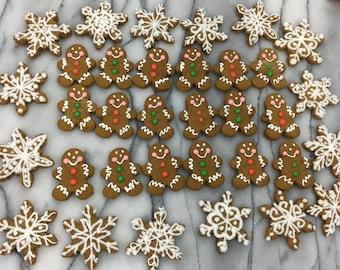 Mini Gingerbread Men & Snowflake Cookies