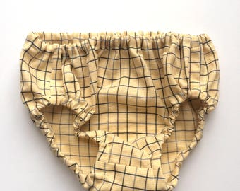 Yellow Baby Bloomers Diaper Cover