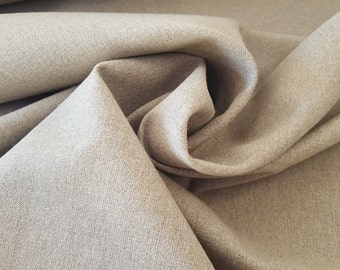 Natural LINEN, flax fabric 335g/m2, raw, unbleached, undyed, rough. Crafts, upholstery, homewares.
