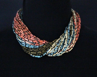Vintage multi layered necklace, Multi Color * free shipping *