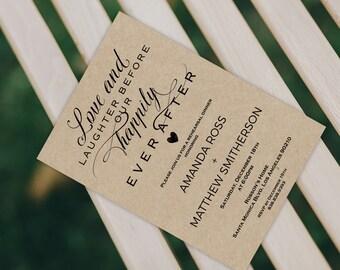 Rustic Wedding Rehearsal Invitation - Printable Rehearsal Dinner Invitation - Editable Template - Downloadable Wedding #WDH0211