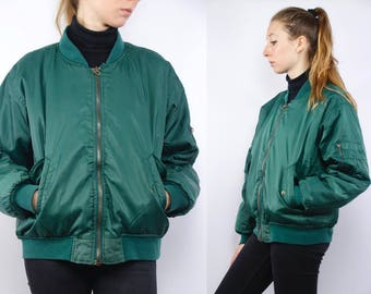 90s bomber jacket | Etsy