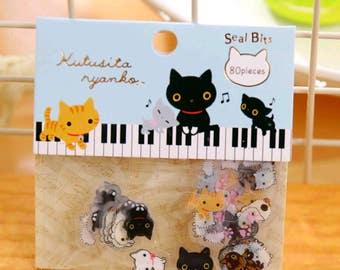 Package 80 stickers super kawaii kittens!