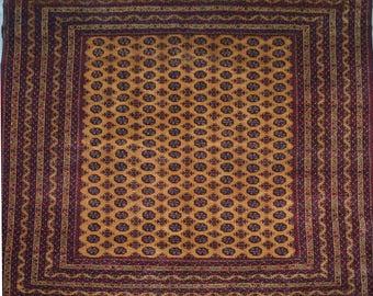 stunning afghan turkoman hand knotted high quality bokhara rug - Bokhara Rug