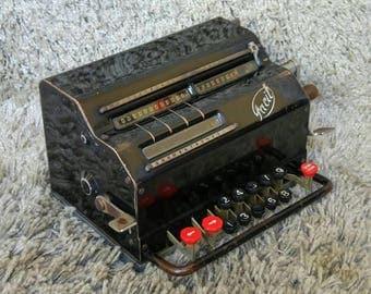 Rare Facit T   Mechanical Calculator   Made in Sweden 1936   Adding Machine   Rechenmaschine   Calcolatrice   FREE Shipping   Calculadora