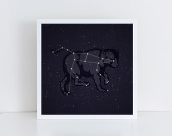 Ursa Major Print, Ursa Major Poster, Ursa Major Art, Constellation Print, Constellation Art, Big Dipper Art, Bear Constellation, Big Dipper
