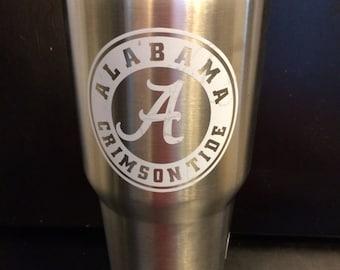 University of Alabama Crimson Tide logo Ozark Trail 20 oz & 30 oz Tumbler in white NEW