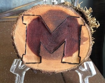 "University of Mississippi Ole Miss Rebels  Block ""M"" Christmas ornament / Decor / Coaster"
