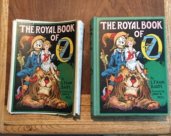 Reduced price!!! The Royal book of Oz w/ dust cover also rare green hard back