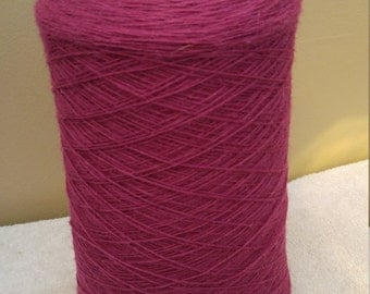 100% New Zealand Rug Yarn 2lb 14ounce cone Dark Pink