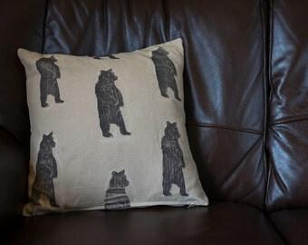 Bear Print Cushion Cover.