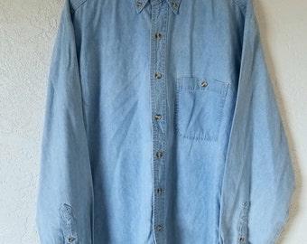 La Loving Pale Denim Long Sleeve Shirt