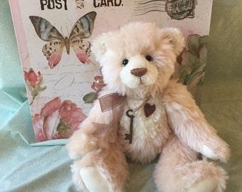 Fiona - artist-made, handmade, mohair teddy bear, collectible, one-of-a-kind