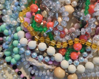 Large Lot of Beaded Necklaces