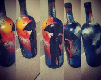 Custom Hand Painted wine bottles