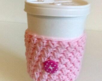 Crochet Cup Cozy, Coffee cup cozy.