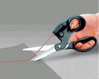 Sewing Scissors with Laser Cuts Straight Fast Laser Guided Scissors Multifunction scissors