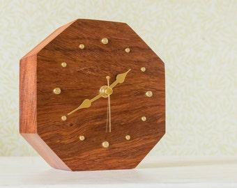 Wooden clock, a unique desk clock