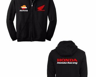 HONDA REPSOL PRINTED Hoodie Full Zip Hooded Sweatshirt