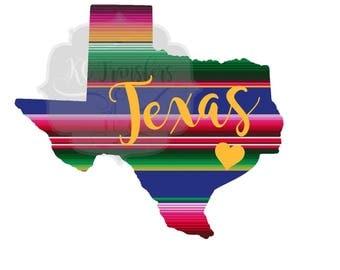 Texas Serape Ready to Press Transfer