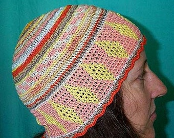 Hand-Made Colorful Crocheted BoHo Hat ... Breeze 202