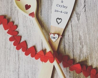 Personalised Wooden Spatula - wedding gift, christening gift, new baby.