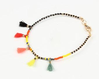Beaded Bracelet, beaded bangle, tassel bracelet,  Friendship bracelet, cute beaded bracelet, gift for her