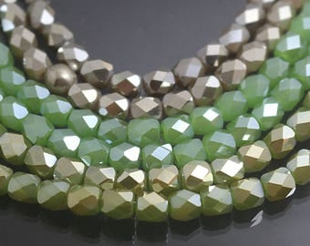 Glass Beads,Glass Faceted Barrel Beads,15 inch One Strand