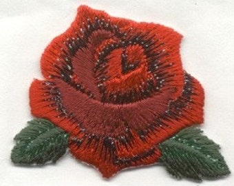 iron on  Patch Applique red rose