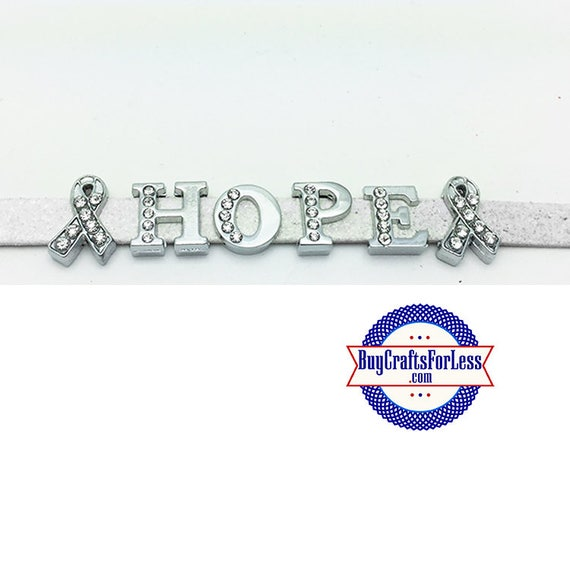 AWARENESS Ribbons and HOPE Letter Charms +FREE Shipping & Discounts*