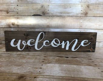 Welcome sign, home decor sign