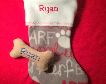 Personalized Pet Stockings Cat or Dog.....Paw prints OR Dog/Cat Lover