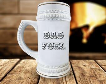 """Funny """"Dad Fuel"""" Beer Mug"""