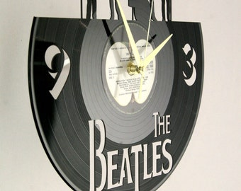 The Beatles vinyl record wall clock, ideal for home decor, unique gift present and hand made art, interior design for music fan, 010