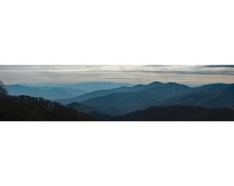 Great Smokey Mountains, Panoramic Print