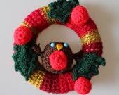 Red & Gold Robin Mini Wreath