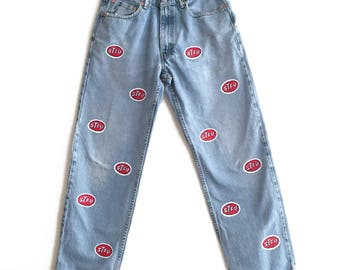 Hand painted Custom STFU Jeans