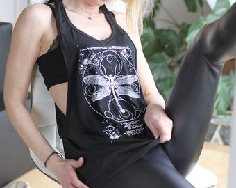 handprinted dragonfly top occult
